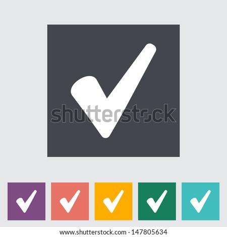 Ok flat icon. Vector illustration. - stock vector