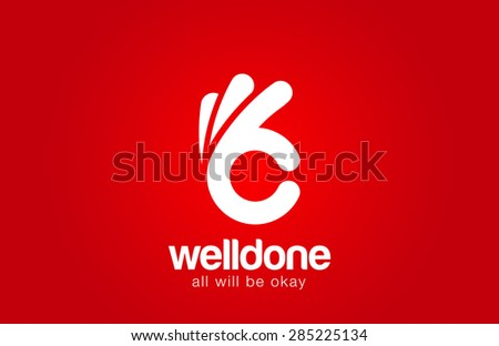 Ok Logo design vector template. Hand Okay symbol icon logotype - stock vector