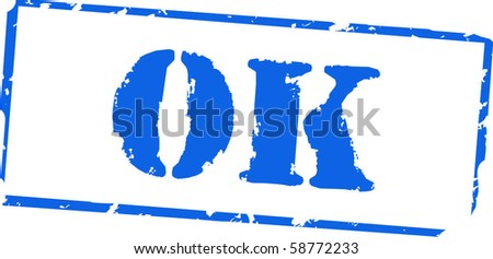 Ok rubber stamp - stock vector
