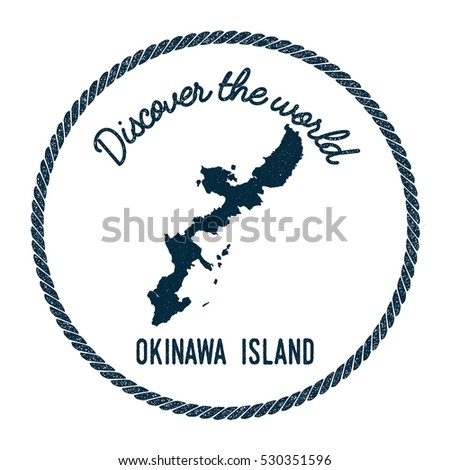 Okinawa island map vintage discover world vectores en stock okinawa island map in vintage discover the world rubber stamp hipster style nautical postage okinawa gumiabroncs Choice Image
