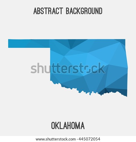 Oklahoma map in geometric polygonal,mosaic style.Abstract tessellation,modern design background. Vector illustration EPS8