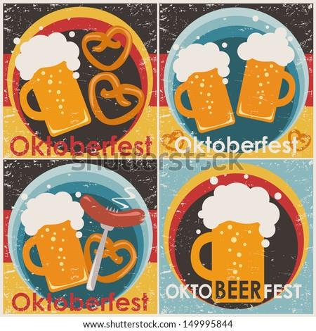 Oktoberfest backgrounds, set.  - stock vector