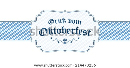 Oktoberfest banner text greetings oktoberfest in stock vector oktoberfest banner with text greetings from oktoberfest in german m4hsunfo