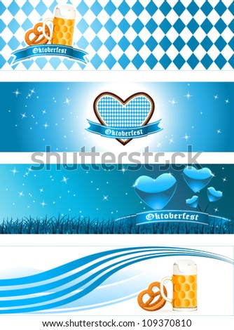 Oktoberfest banners - vector illustration - stock vector