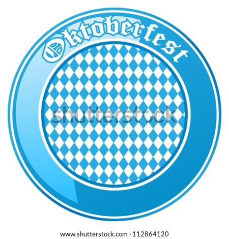 Oktoberfest button - vector illustration - stock vector