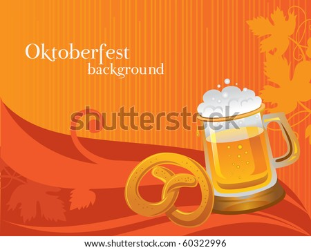 Oktoberfest celebration background - stock vector