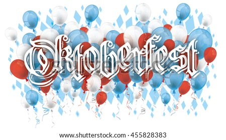 Oktoberfest design on the white background.  Eps 10 vector file.