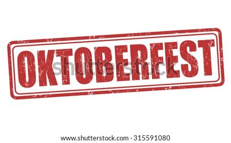 Oktoberfest grunge rubber stamp on white background, vector illustration - stock vector