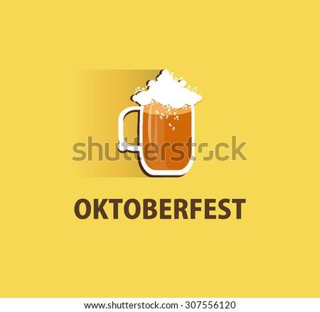 Oktoberfest logo design for your company.Vector illustration. - stock vector
