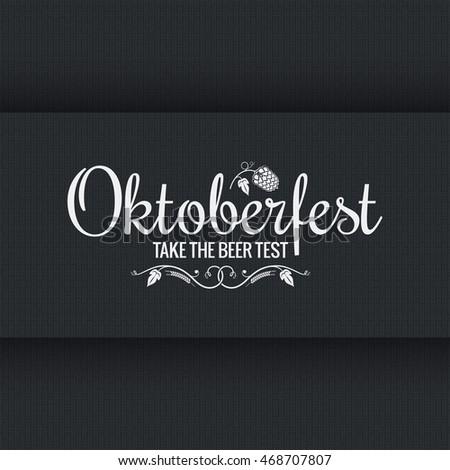 Oktoberfest vintage logo design background