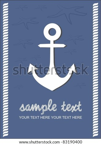 old anchor background - stock vector