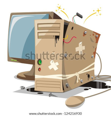 Broken Computer Stock Images, Royalty-Free Images & Vectors ...