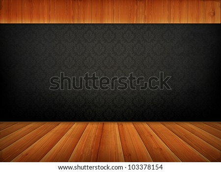 Old background, vector - stock vector