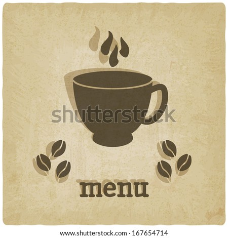 old background with coffee - vector illustration