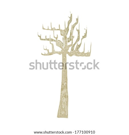 old bare tree cartoon