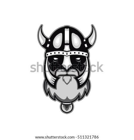 Old Bearded Vector Viking Warrior Logo Stock Vector 511321786 ...