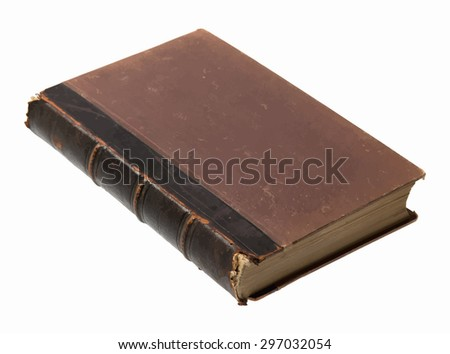 old book on white background, vector - stock vector