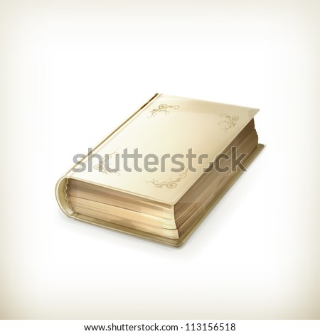 Old book, vector icon - stock vector