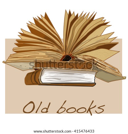 old book vintage vector isolated