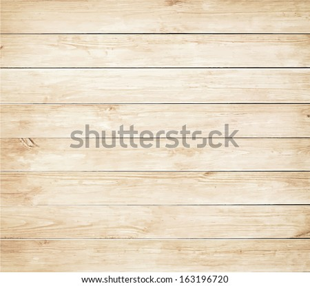 Old brown wooden planks texture. Vector wood background - stock vector