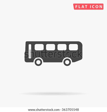 Old Bus Icon Vector.  - stock vector