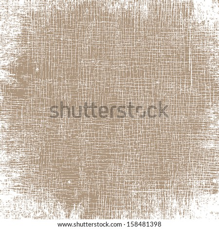 Old Canvas Texture. EPS10 vector illustration. - stock vector