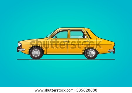 old car design, vector illustration