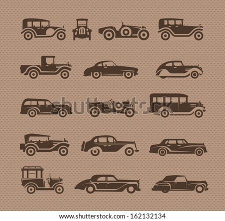Old cars. Vector format - stock vector
