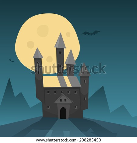 Old Castle - stock vector