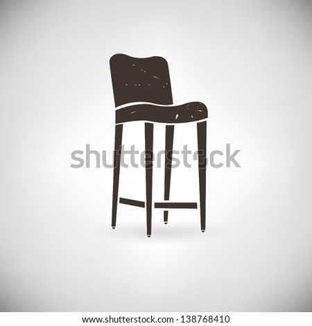 old chair - stock vector