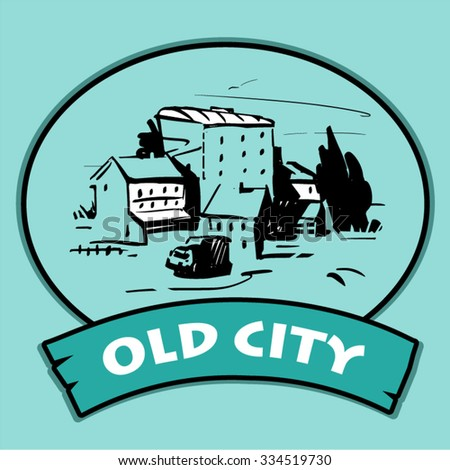Old City - stock vector