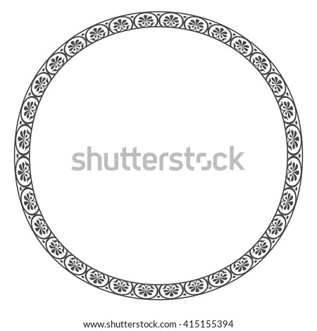 Old classic border rounder designs - stock vector