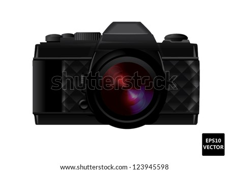 Old classic camera vintage - stock vector