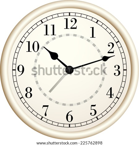 Old clock.Vector illustration. - stock vector
