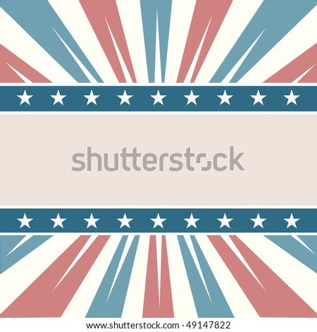 Old Colors American Background - stock vector