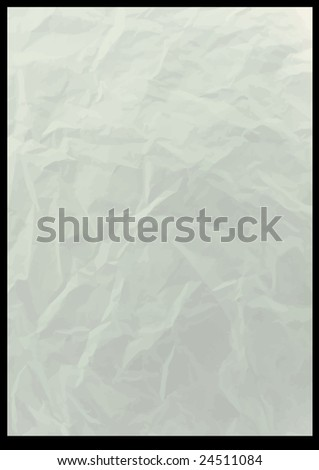 old crushed vector paper background - stock vector