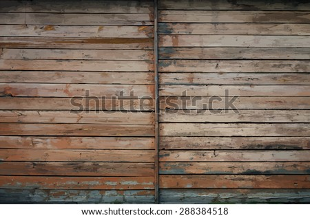 old dirty wooden texture, vector - stock vector