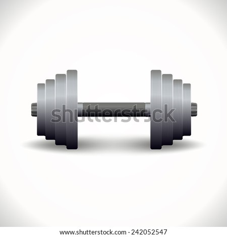 old dumbbells for fitness. vector format.