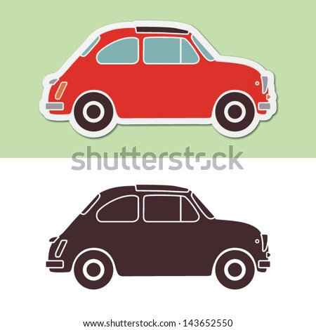 Old fashion italian car - stock vector