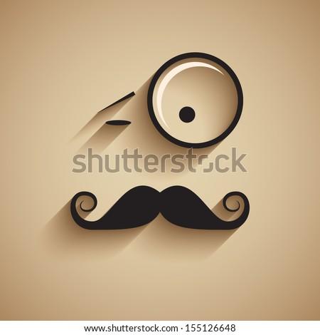 Old fashioned gentleman. Vector illustration. - stock vector