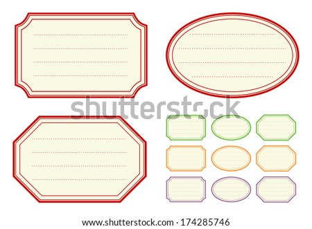 Old fashioned jam label templates stock vector 174285746 for Jelly jar label template