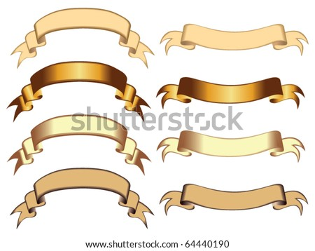 old fashioned ribbons vector - stock vector