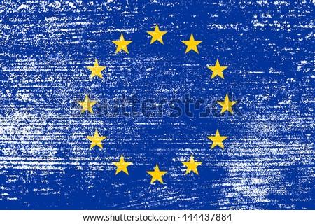 Old flag of European Union.Vector flag of EU. - stock vector