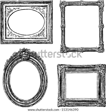 old frames - stock vector