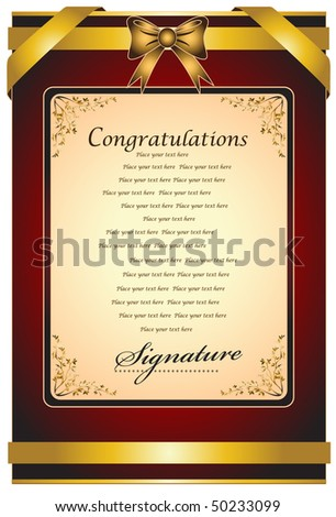 Congratulations Certificate Stock Images RoyaltyFree Images