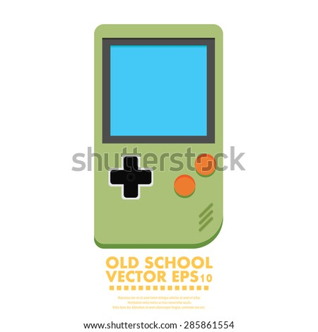 Old Gadget. Flat icon. EPS10 - stock vector