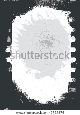 old grey film  strip - stock vector