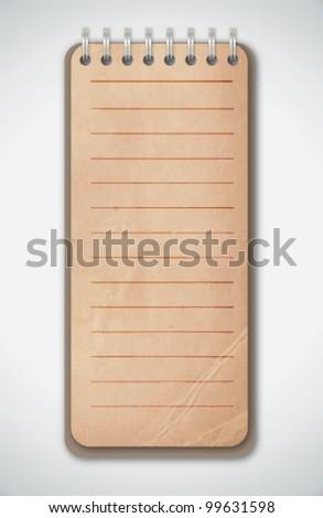 Old Grunge Notebook Vector - stock vector