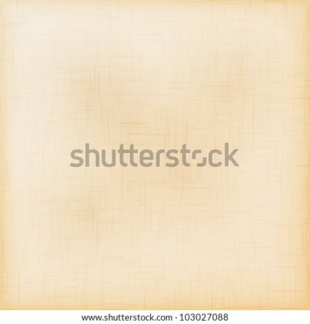 Old grungy paper texture. Vector background. - stock vector