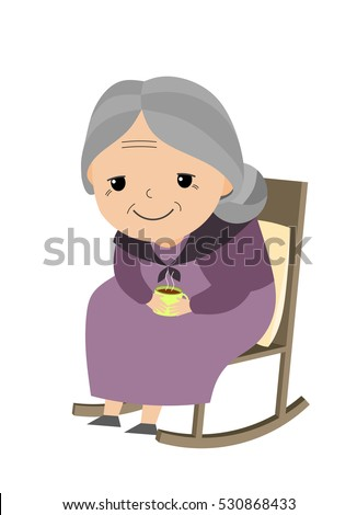 old lady sitting her rocking chair stock vector 530868433 shutterstock rh shutterstock com old lady cartoon images free download little old lady cartoon images